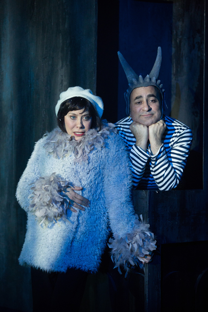 Cheryl Stern as Pigeon and Steven Rattazzi as Pierre the Gargoyle.