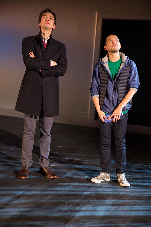 Devin Norik as Dash and Jon Norman Schneider as Claude.