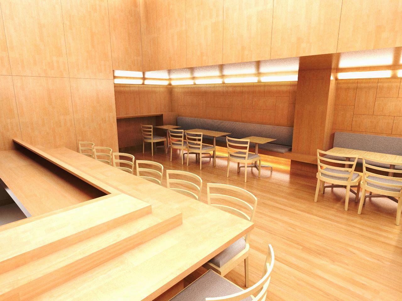 Sushi Yasuda Restaurant, NYC // Belmont Freeman Architects