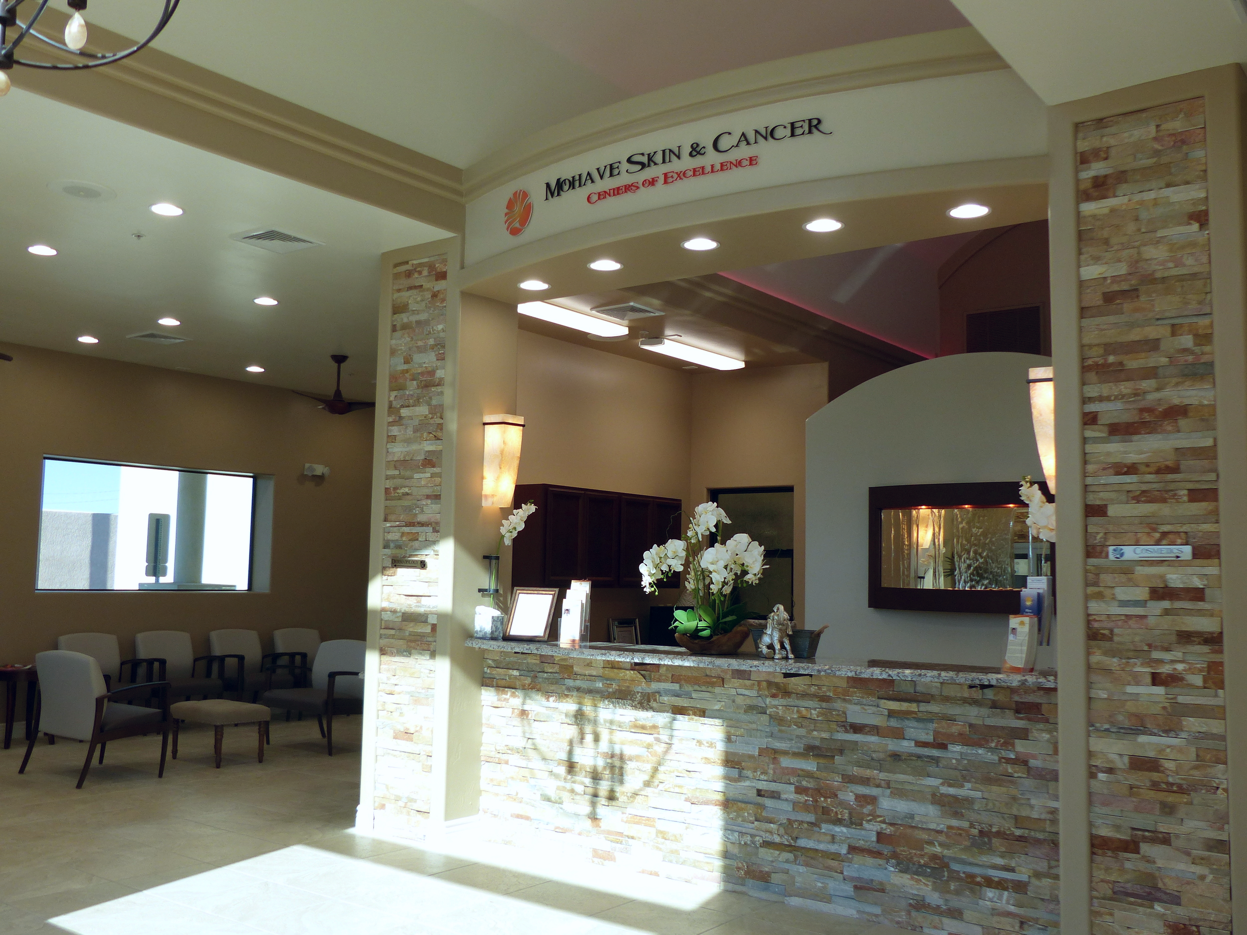 Our beautiful, peaceful waiting room at 1801 Mesquite Ave., Lake Havasu City, AZ.