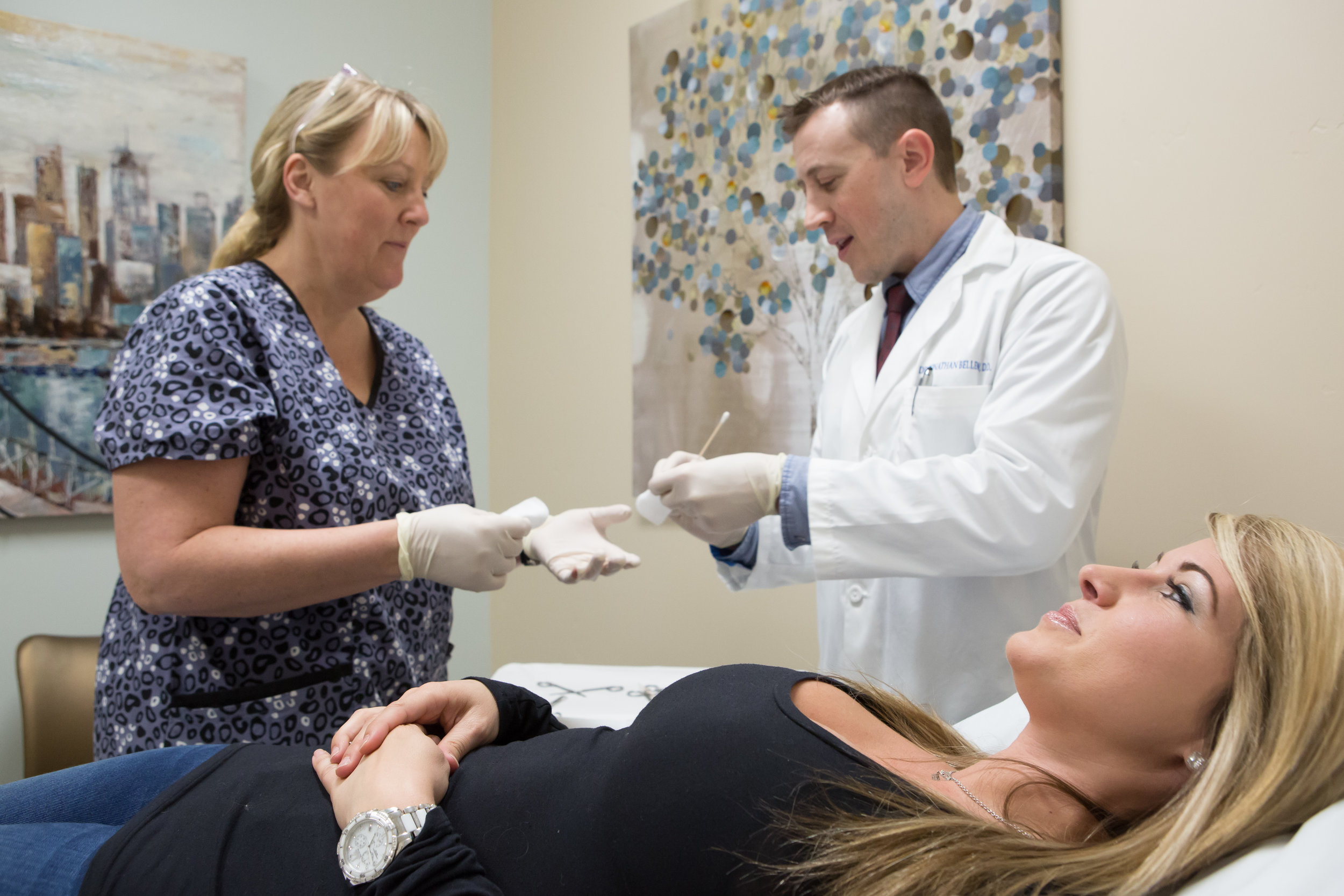 Kelly Beck and Dr. Jonathan Bellew are part of the team of practitioners delivering excellent patient care to patients at Mohave Skin and Cancer