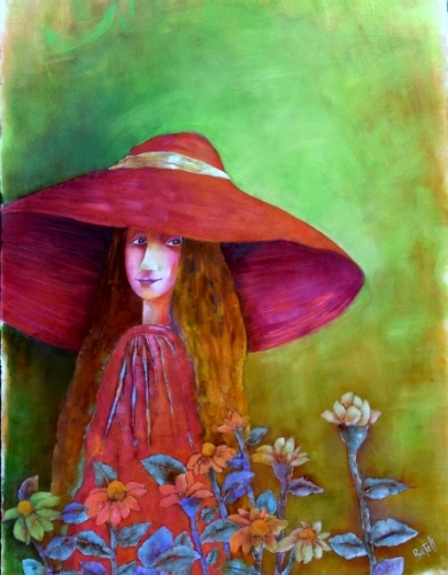 They Like to Call Me Daisy , oil on Arches oil paper, 30 x 22, $675.00 unframed