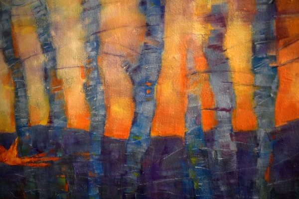 Detail from Honoring the Children. I love the close-up sections of paintings where  the abstraction and texture is more  visible. One day, I may  leave the figure out and go totally abstract.