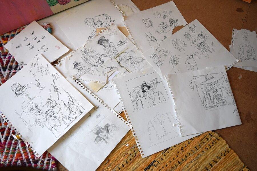 Drawing Studies for Hat Series.JPG