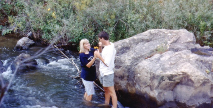 Finally in love, on a trip to New Mexico with my parents, August 1989.