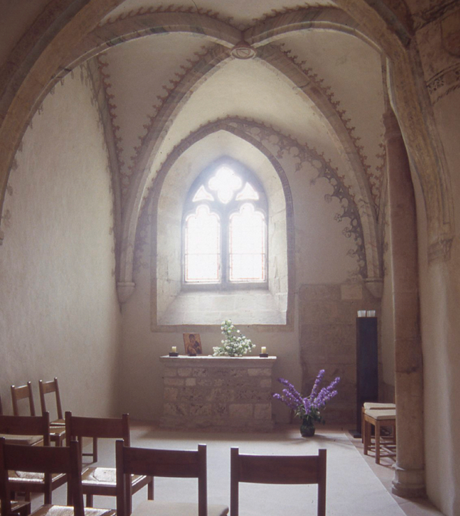 The chapel of the church in Romainmoitre.