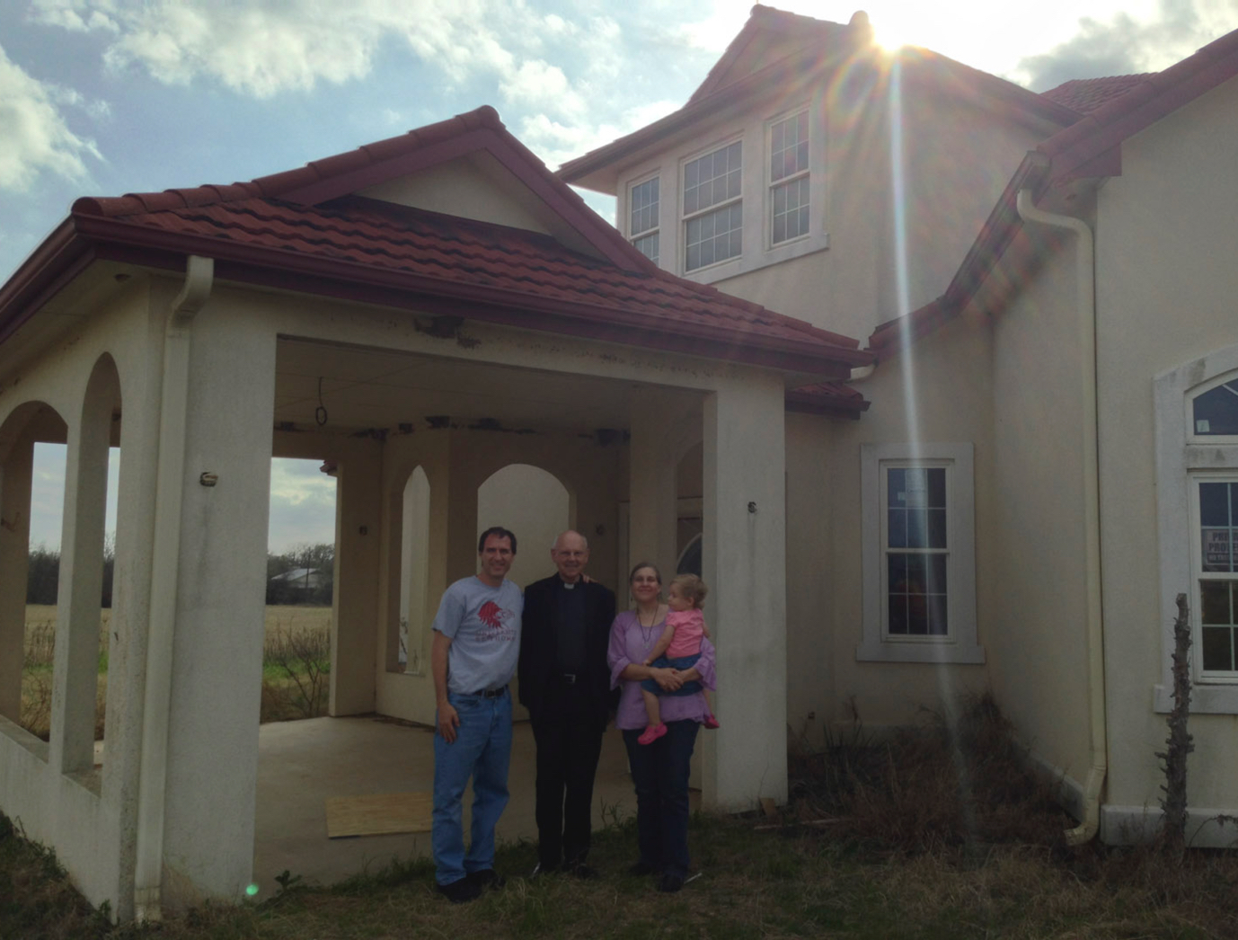 Fr. Peter Hocken from Austria visits the Elgin property shortly after it is purchased.