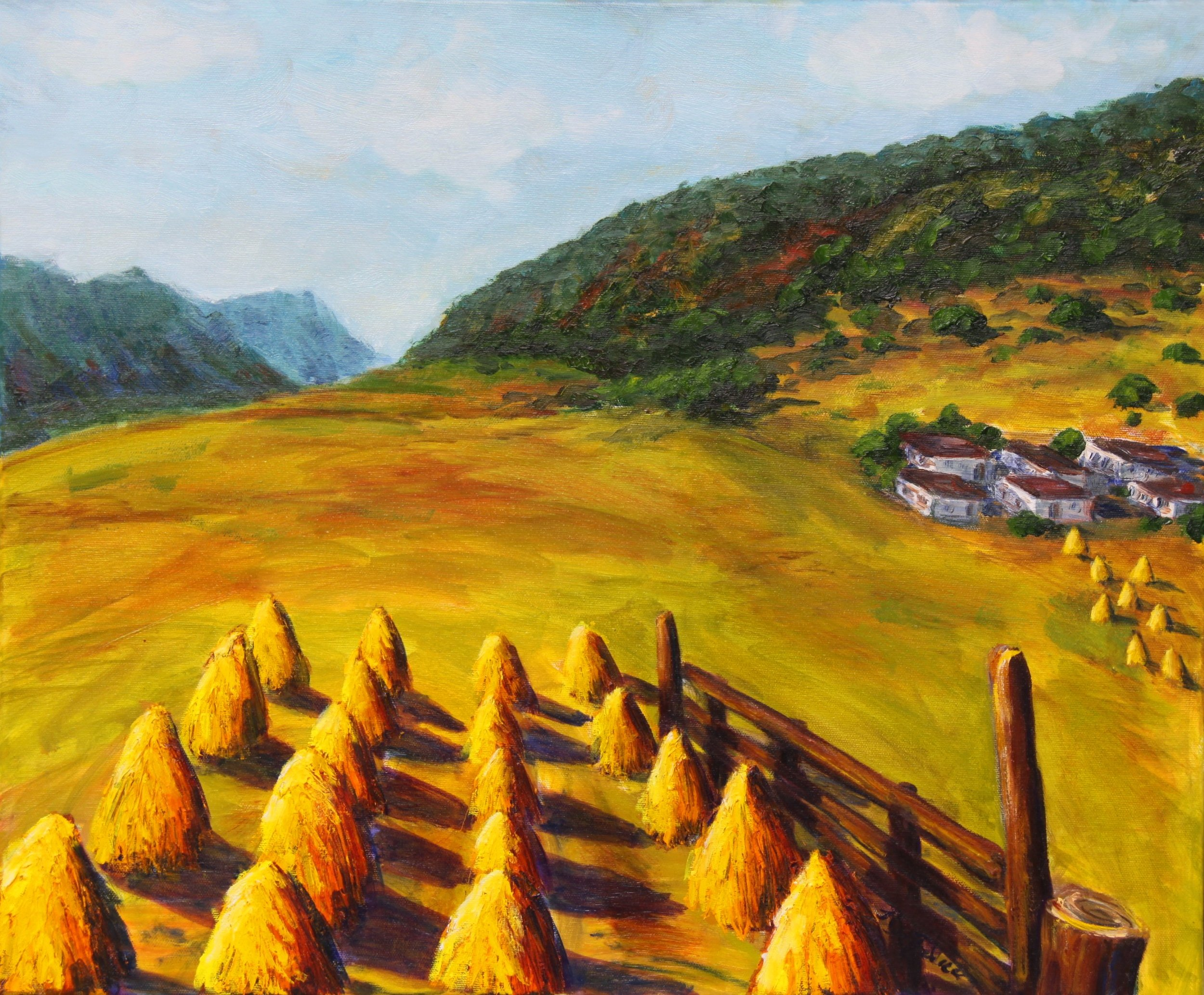 Jill DeFelice , Haystacks in Yunnan Province, China