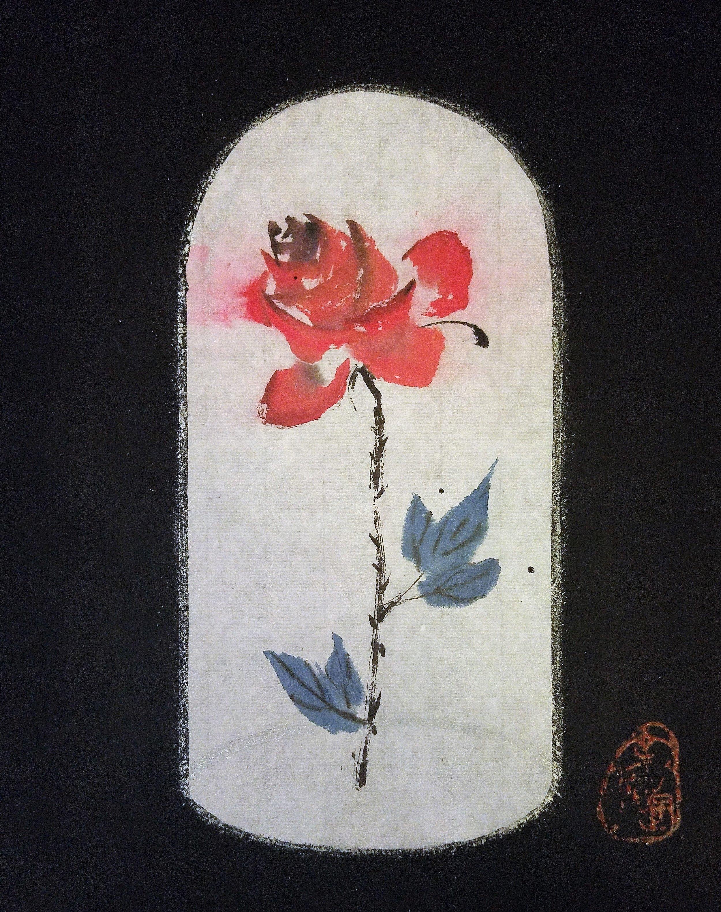 La Vie en Rose-Inspired by Edith Piaf, 12 x 9.5 inches