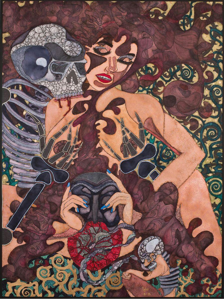 Alia Bensliman, Tunisia. Pulcinella Takes Off Her Mask, New Jersey, 2016.