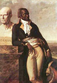 Jean-Baptiste Belley leaning on Raynal's bust