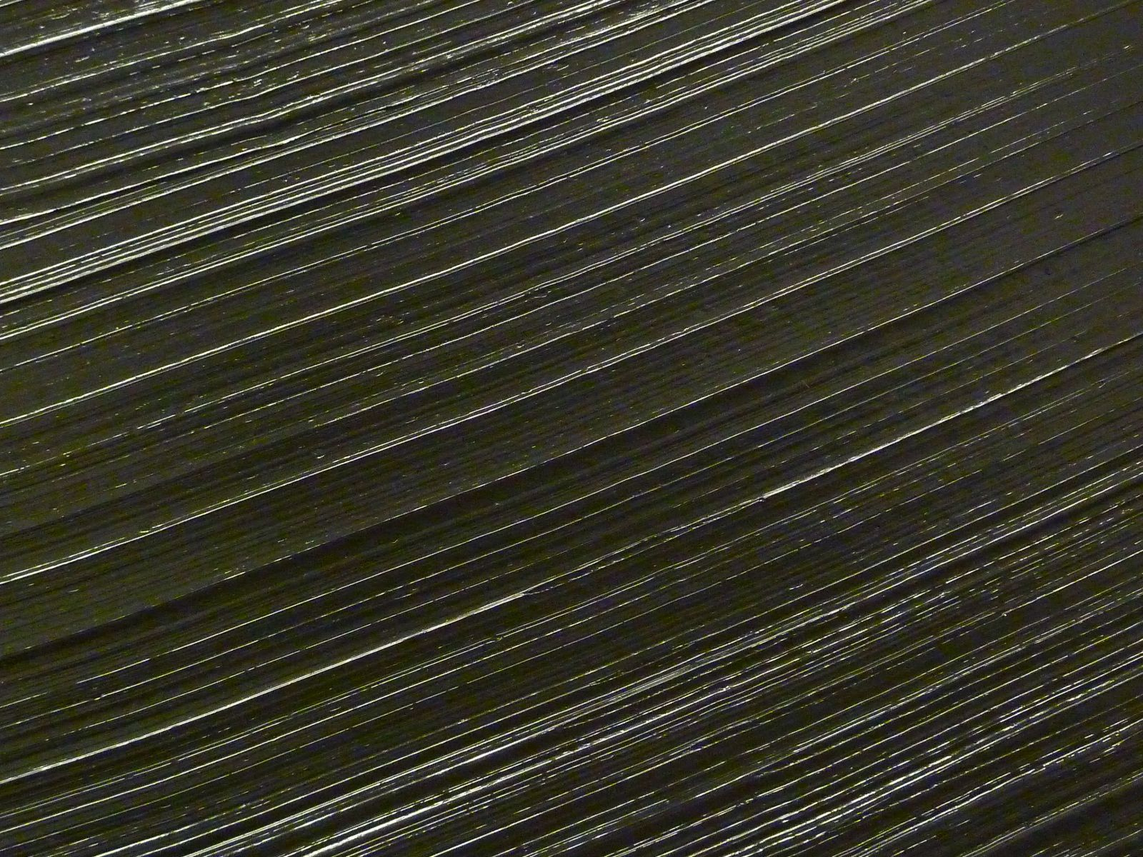 Detail of one of Pierre Soulages's paintings