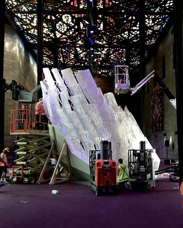 Floe coming together at the NGV great hall. #ngv #rmitarchitecture #studiorolandsnooks