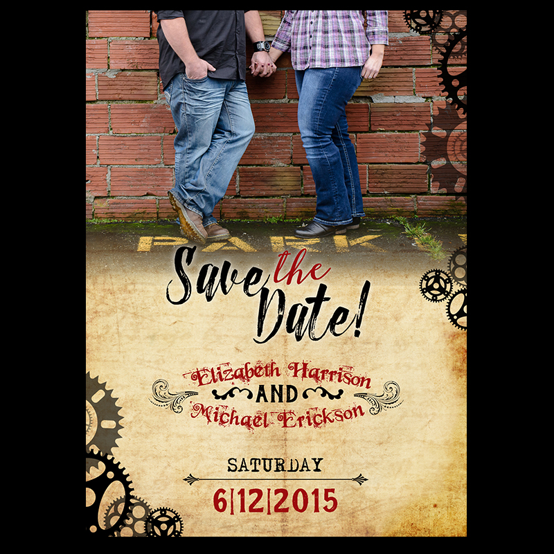 Steampunk Save the Date