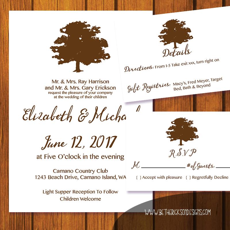 Rustic Tree Invitation