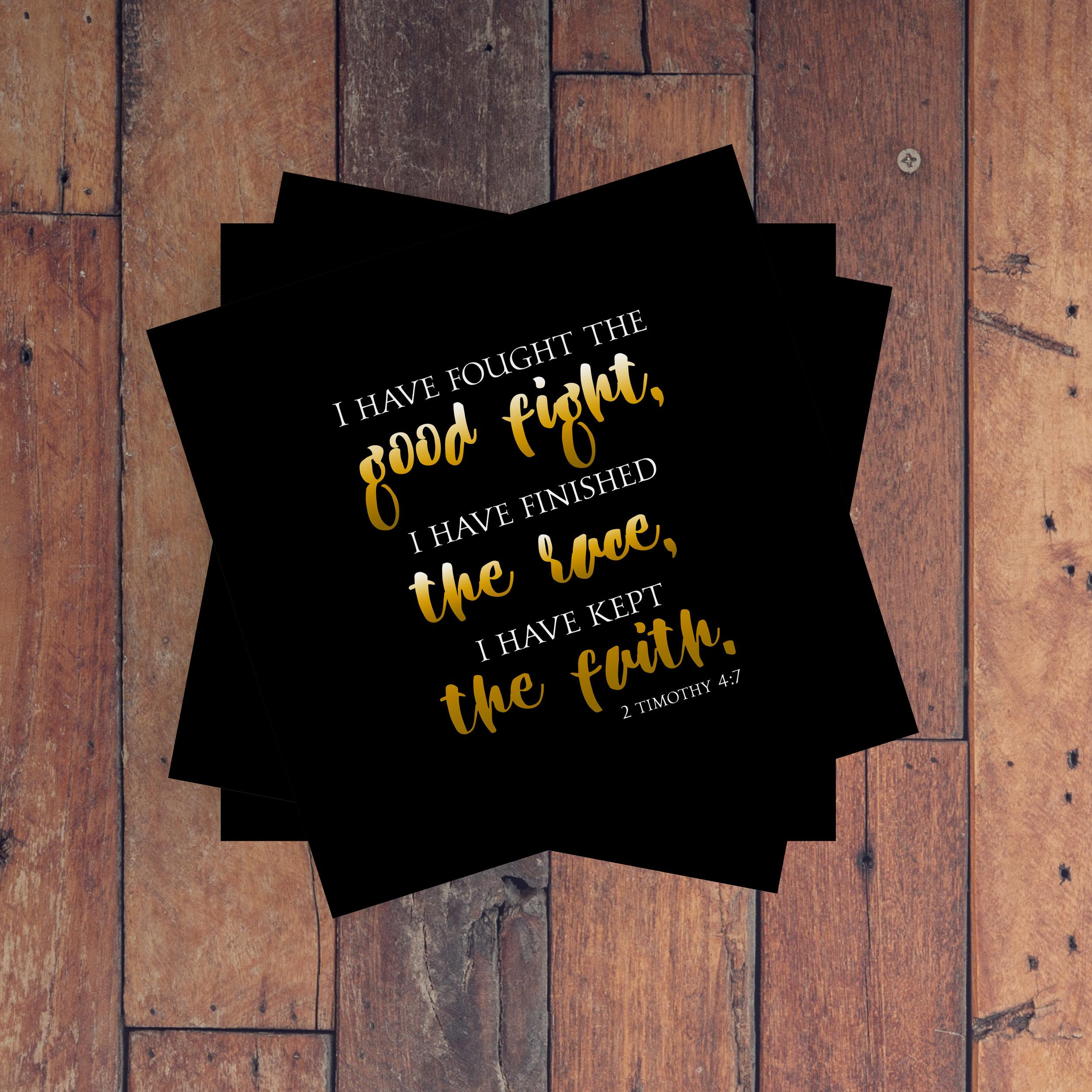 2 Timothy 4:7 Wood Wall Art