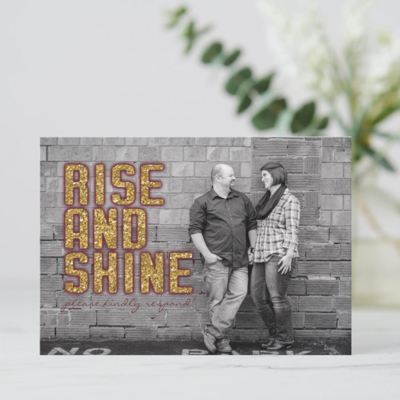 Rise and Shine Brunch Wedding RSVP Front