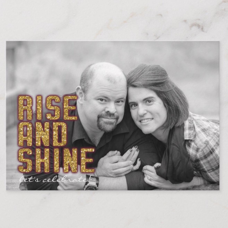 Rise and Shine Brunch Wedding Details Card