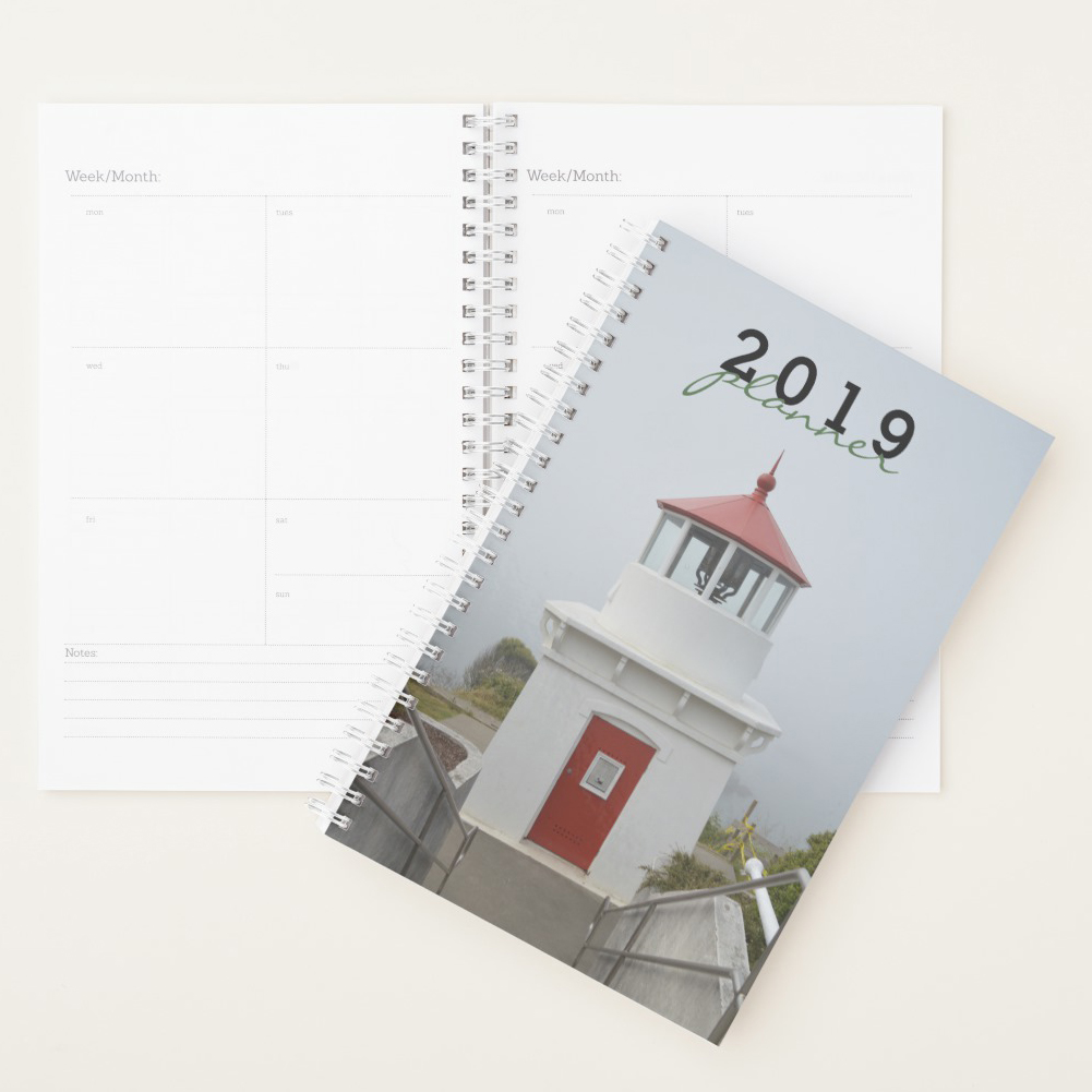 Personalized Blue Lighthouse Planner