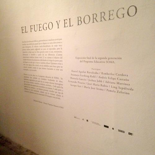 """SOMA student exhibition """"El Fuego Y El Borrego"""" at Museo Ex Teresa"""