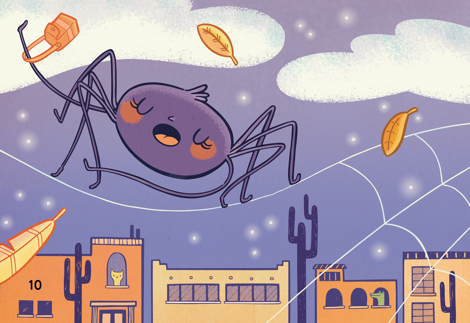 Doña Araña, an illustration for  ¡Di Algo! , my first children's book project.