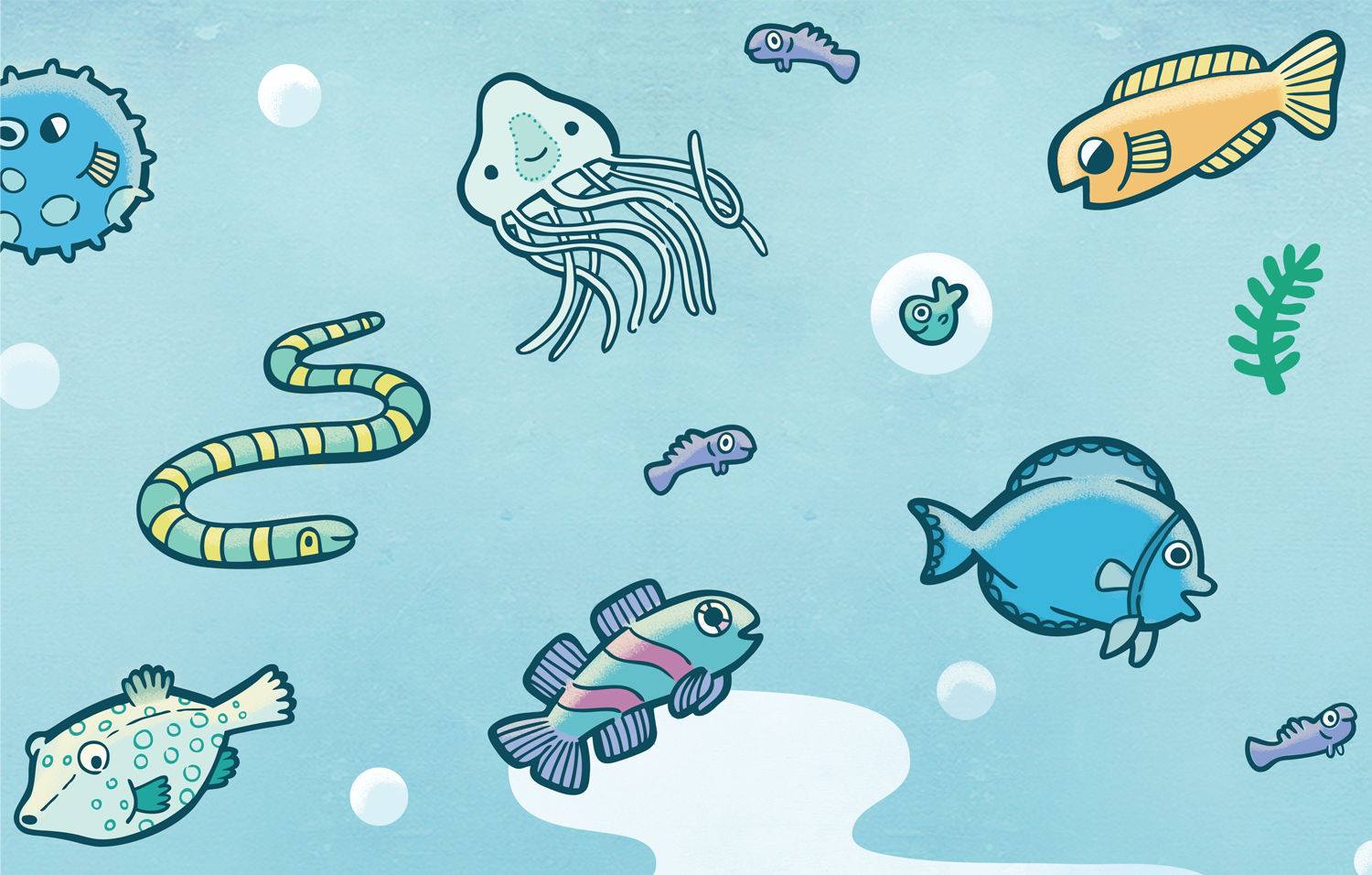 Detail from the Under the Sea board game.