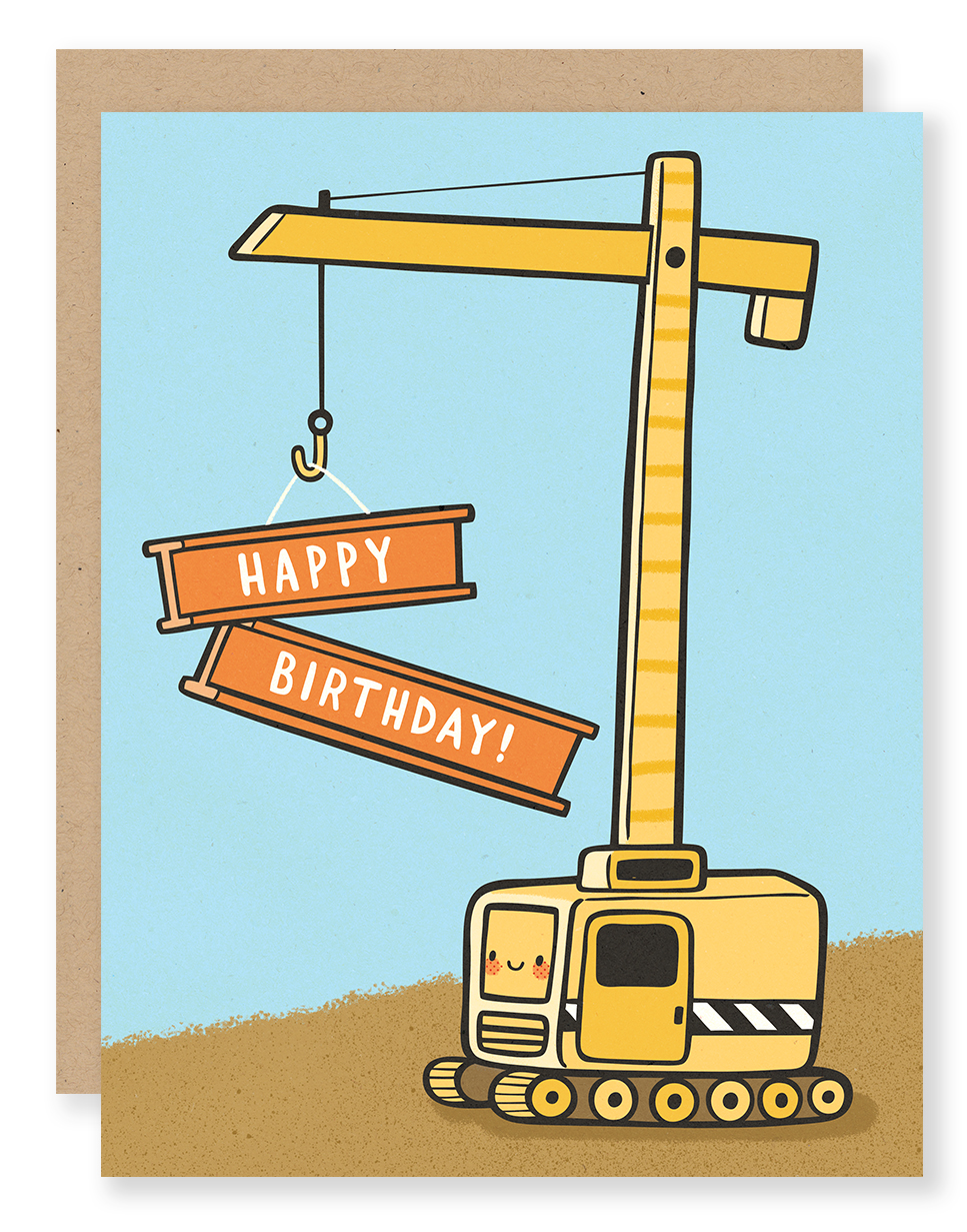 Birthday Crane card for Cuddlefish Press