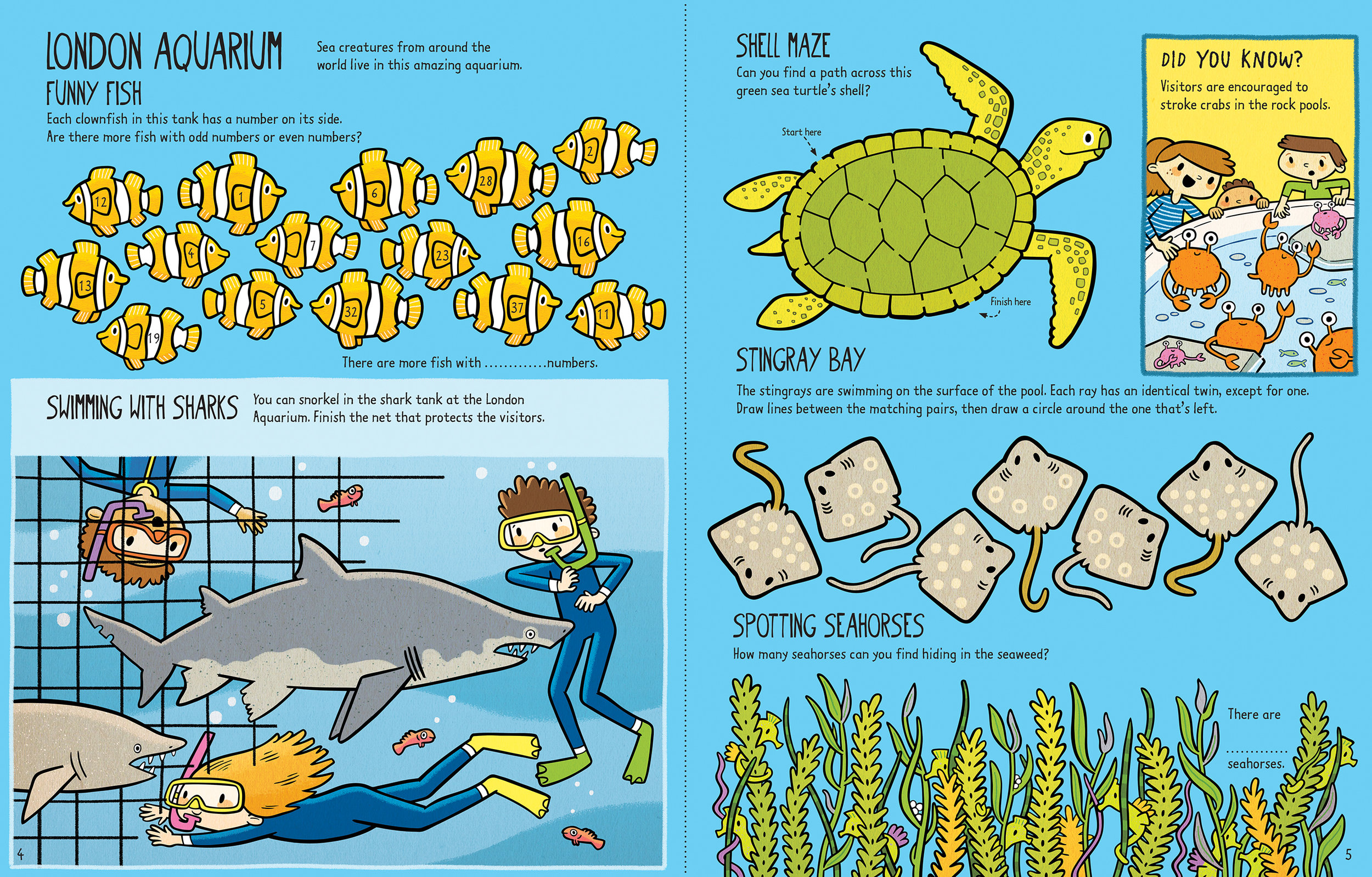 """London Aquarium"" was published in Usborne's  Little Children's London Activity Book ."
