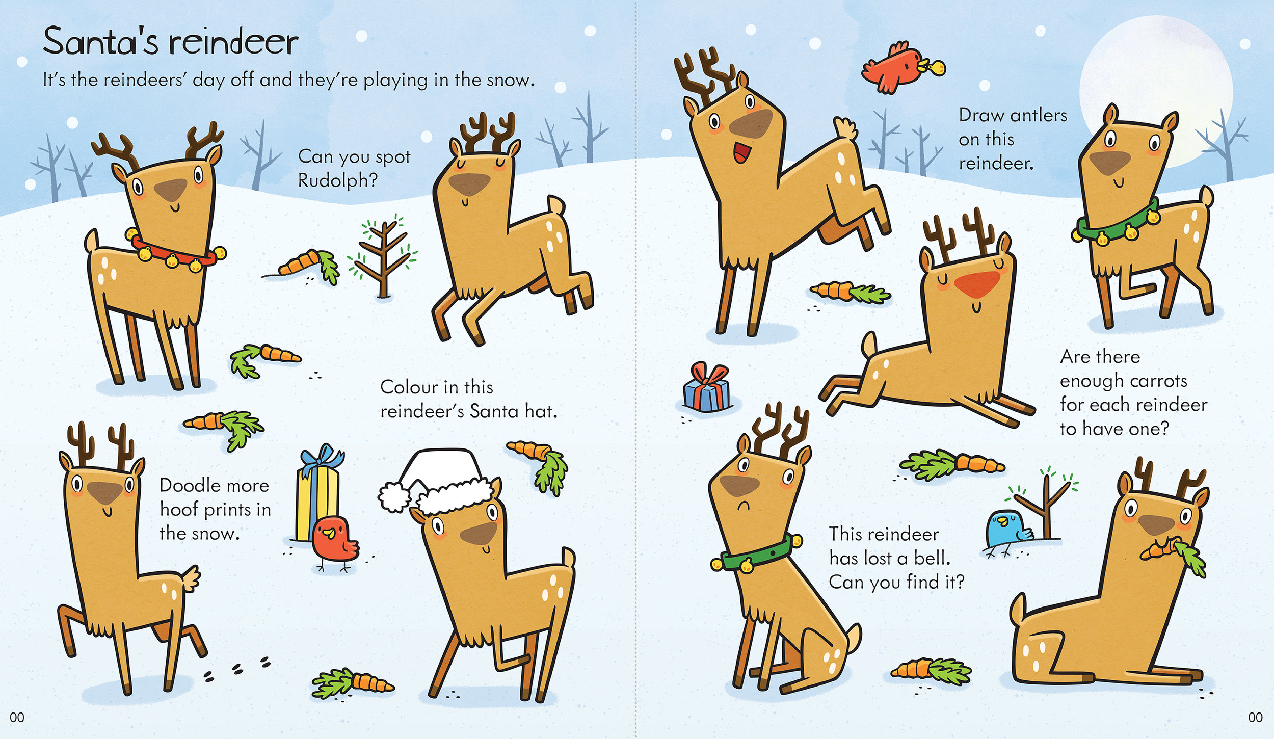 """Santa's reindeer"" was published in Usborne's  Little Children's Christmas Activity Book ."