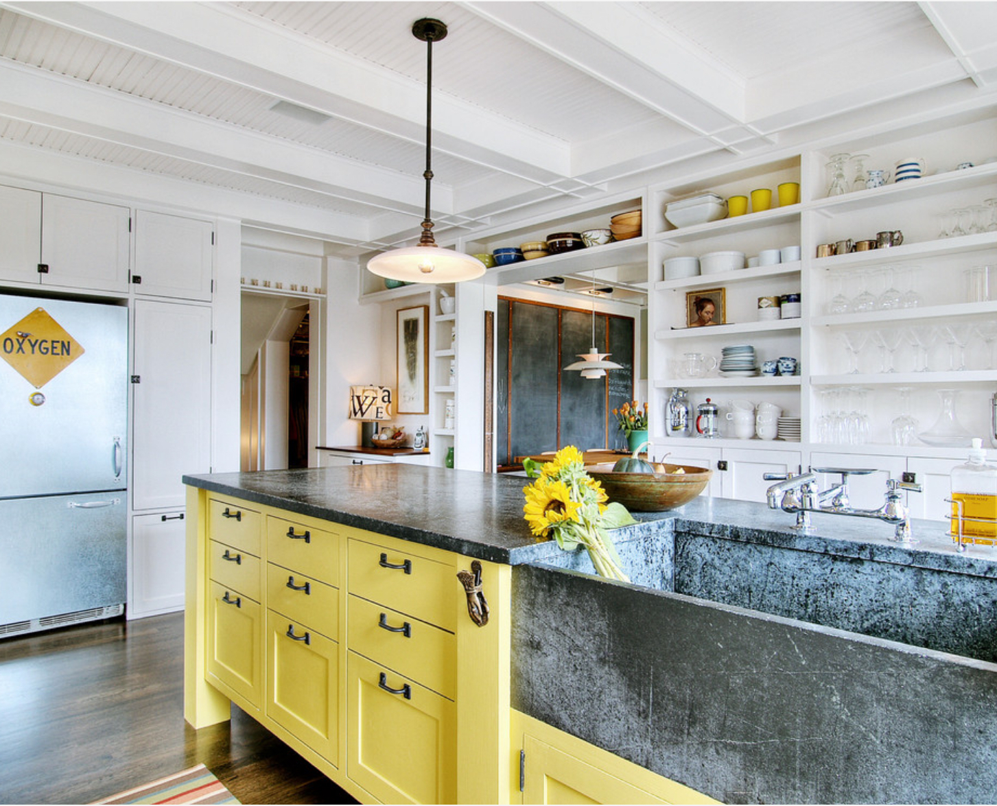 Soapstone sink and counter top  Photo: J.A.S Design Build