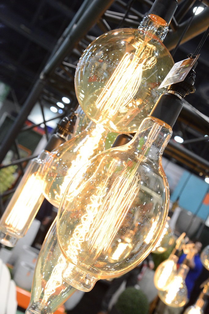 Edison style bulbs aren't a huge light source but they are so pretty they can be used without ashade.