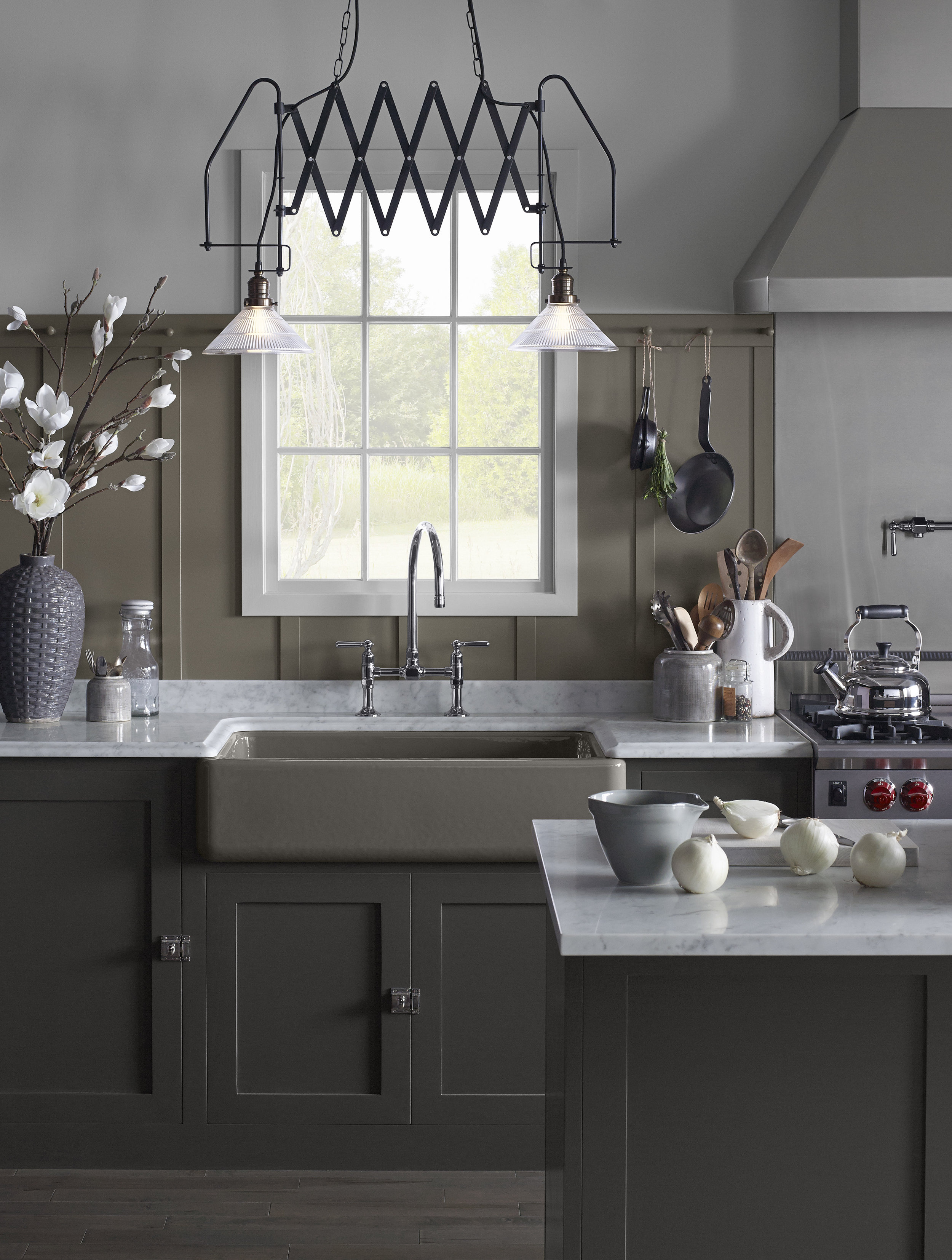 Carrara Marble is the perfect compliment to this Kohler Whitehaven® sink Photo: Kohler