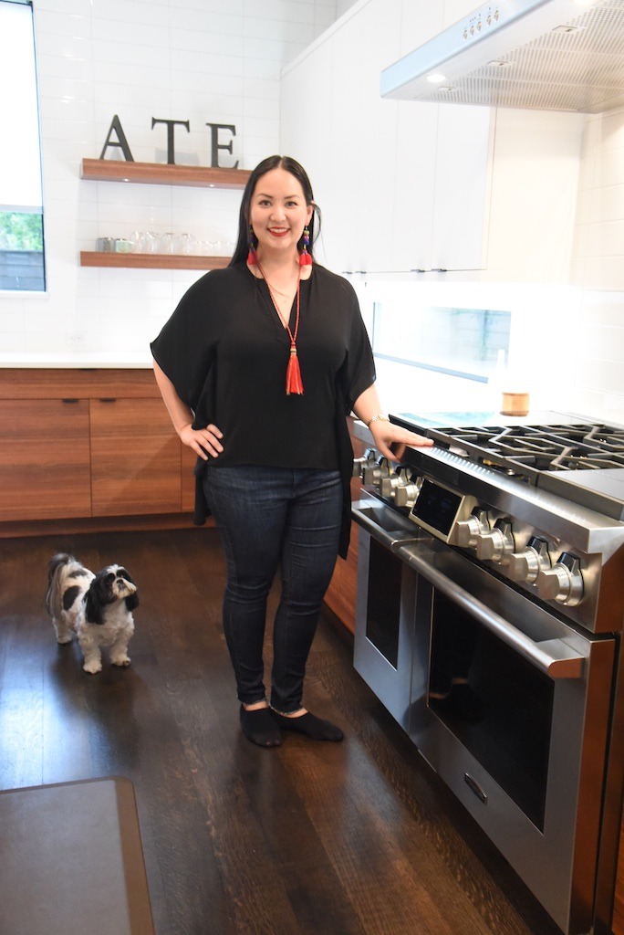 Chef Nikky and her four-legged sous chef