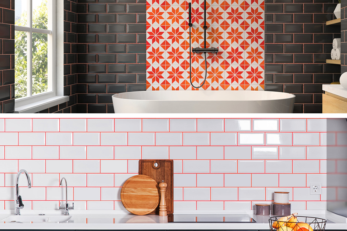 Tile Doctor - Starlike grout in Living Coral