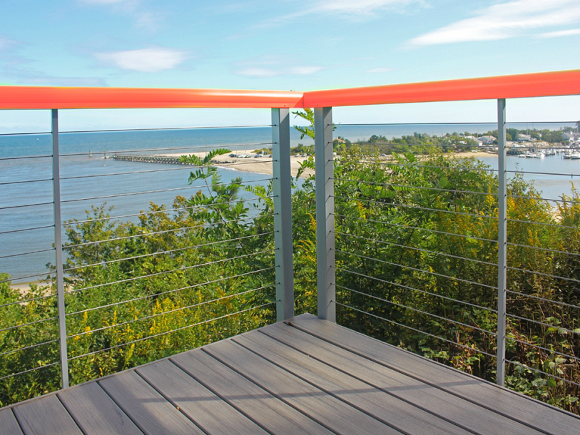 Feeney DesignRail Aluminum Railing in Living Coral