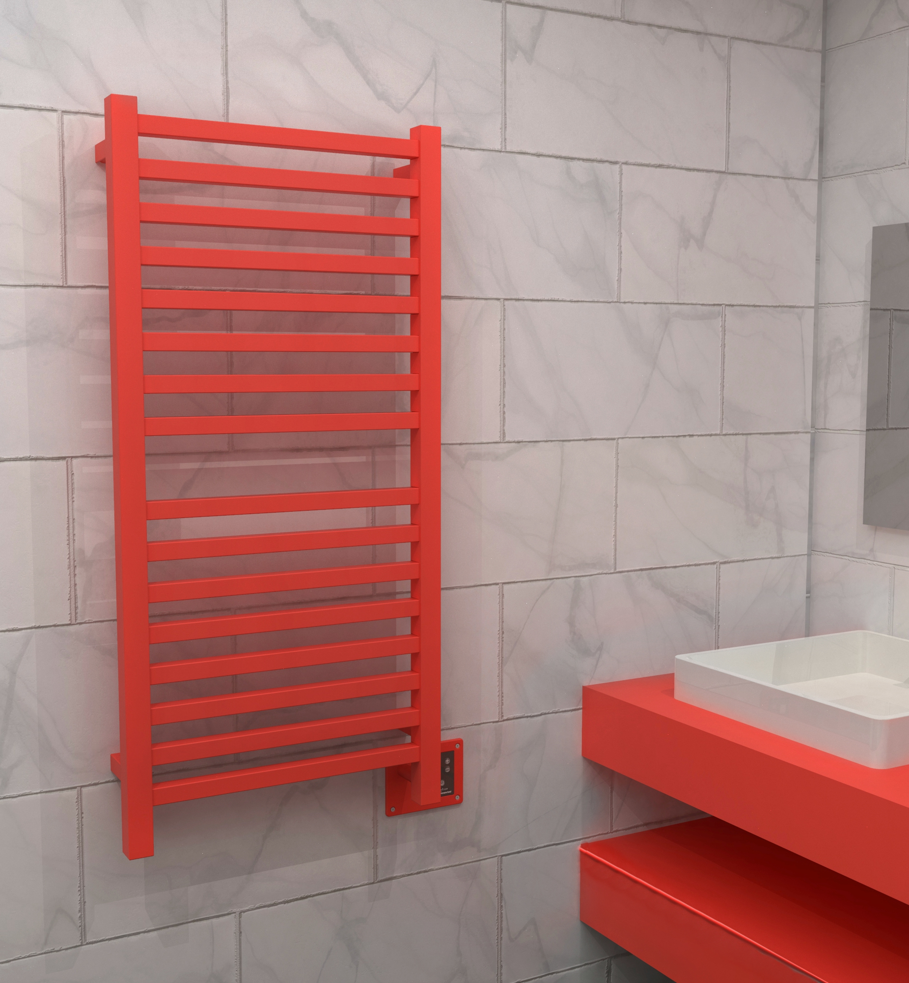 Amba Quadro Towel Warmer - Living Coral