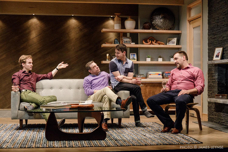 Ryan Spahn, Matthew Montelongo, Leland Wheeler and Lou Liberatore in Primary Stages' production of DANIEL'S HUSBAND, photo by James Leynse port.jpg