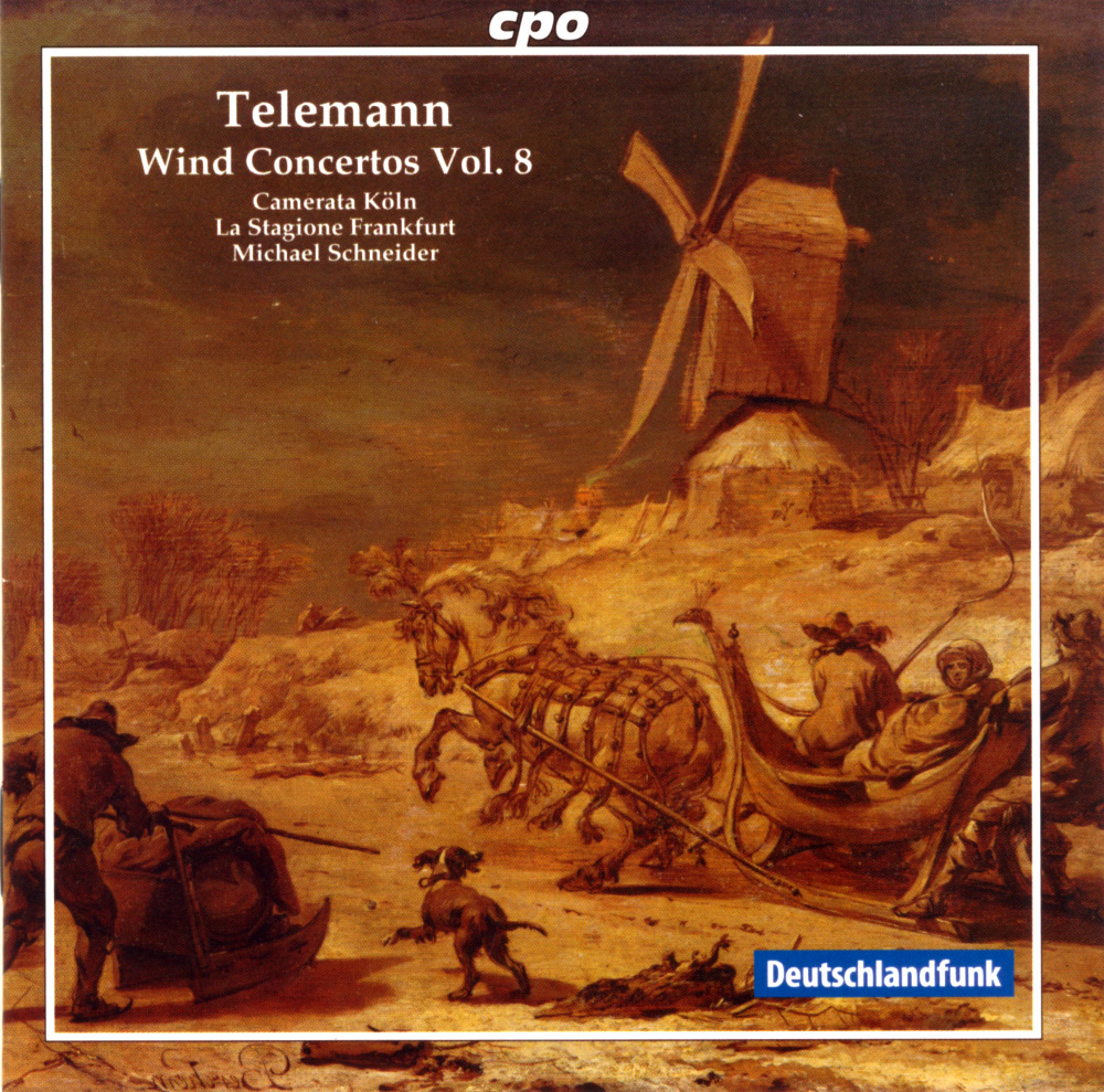 Volume 8 of 8, featuring concertos by G. P. Telemann