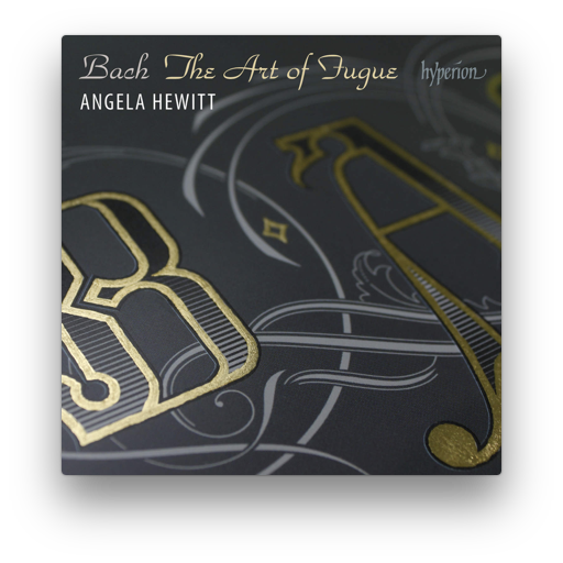 No period artwork on this cover; instead hand-tooled lettering against a cool gray adorns a cover as what may be Hewitt's final installment of Bach's major keyboard works playable on piano.