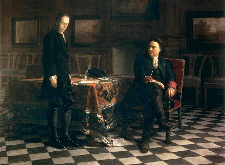 Peter de Grote en zijn zoon Aleksj