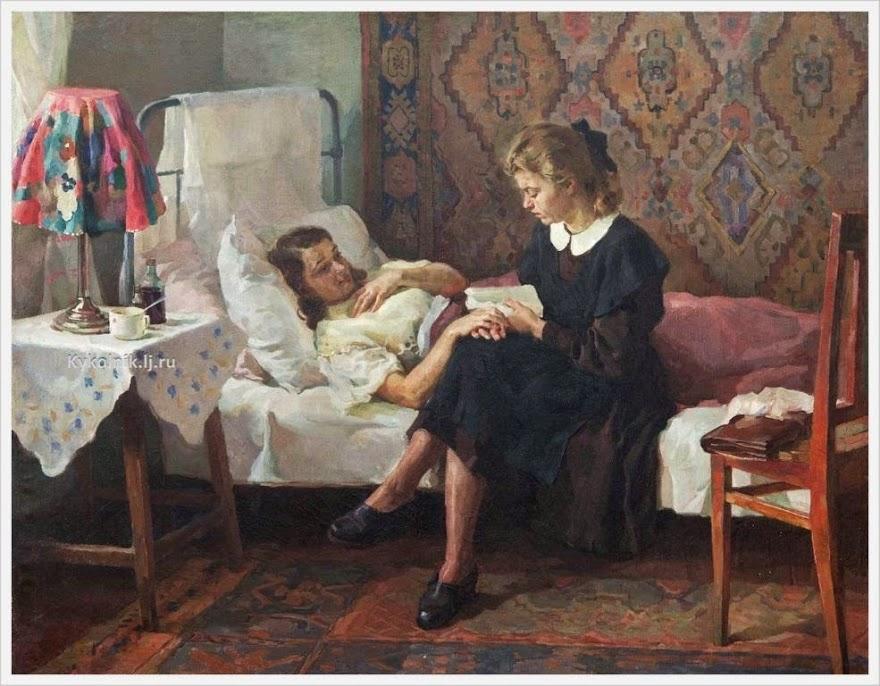I. Tichij - Bij een zieke vriendin (jaren vijftig)
