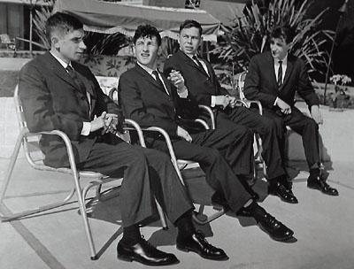 De vier geredde soldaten, gedurende hun tijdelijke verblijf in de VS