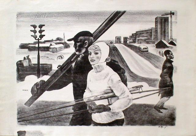 N. Sjtsjeglov - Einde van de winter (voor 1965)