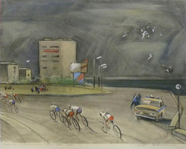 G. Moesin - Wielerwedstrijd Kranojarsk-Divnogorsk (1976)