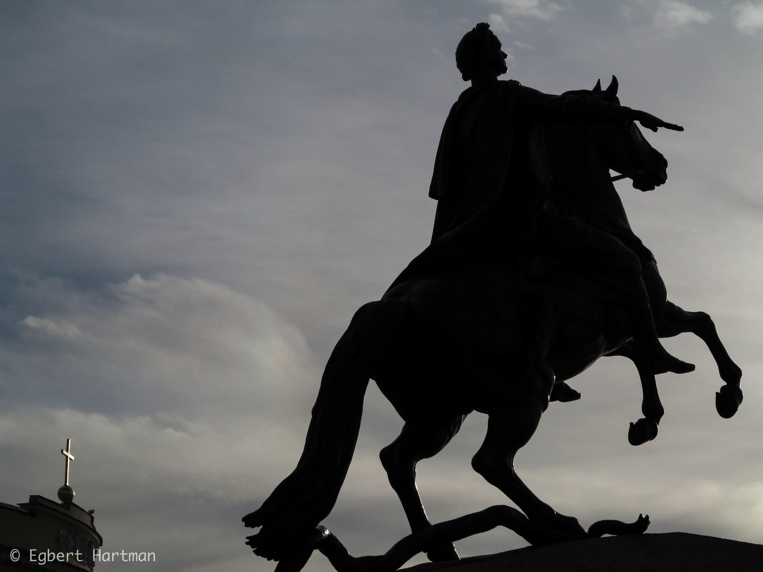 standbeeld Peter de Grote Bronzen Ruiter Neva Sint-Petersburg