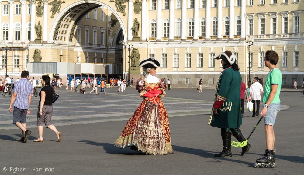 Sint-Petersburg zomer Peter de Grote Paleisplein Generale Staf Hermitage Winterpaleis
