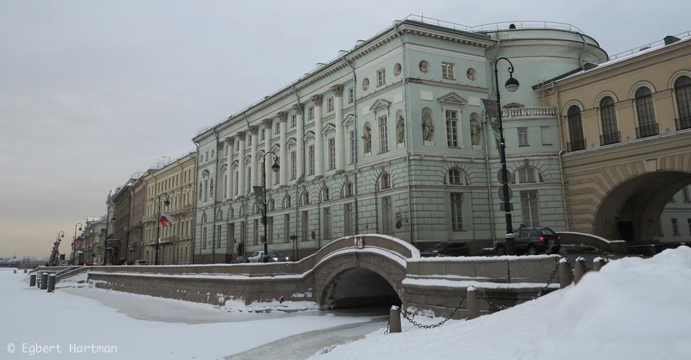 Hermitage theater Neva Winterpaleis Peter de Grote