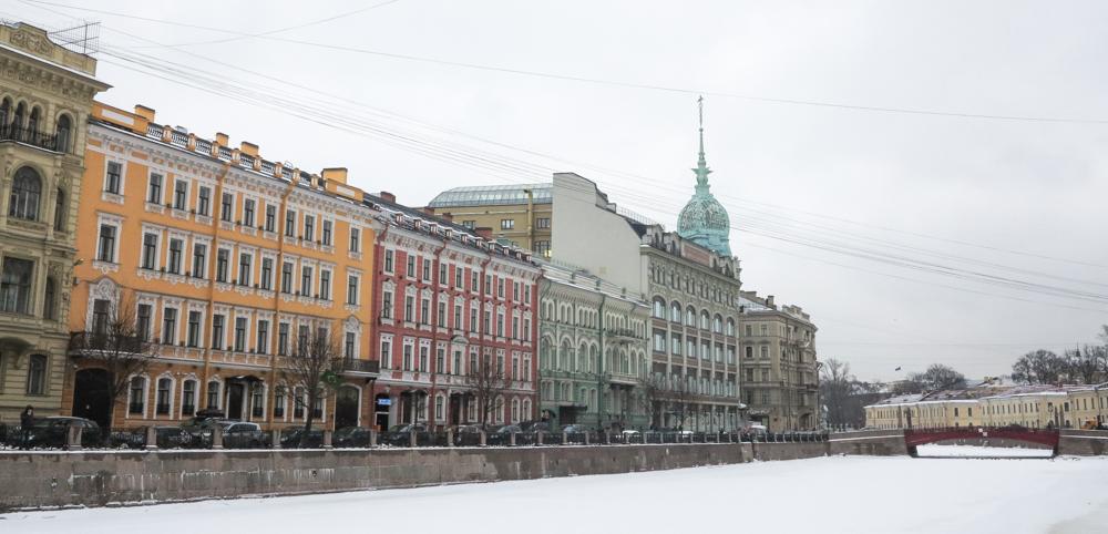 Leningrad, Sint-Petersburg, Mojka, warenhuis Esders en Scheefhals