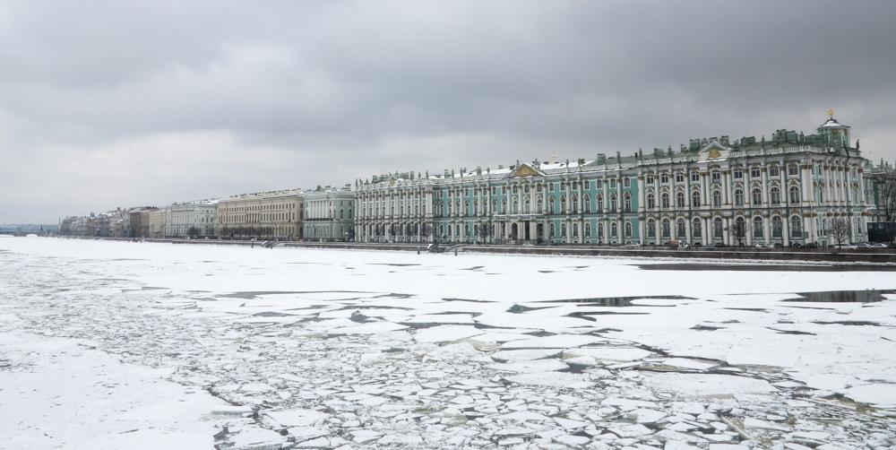 Hermitage, Winterpaleis, Neva ijs vaargeul