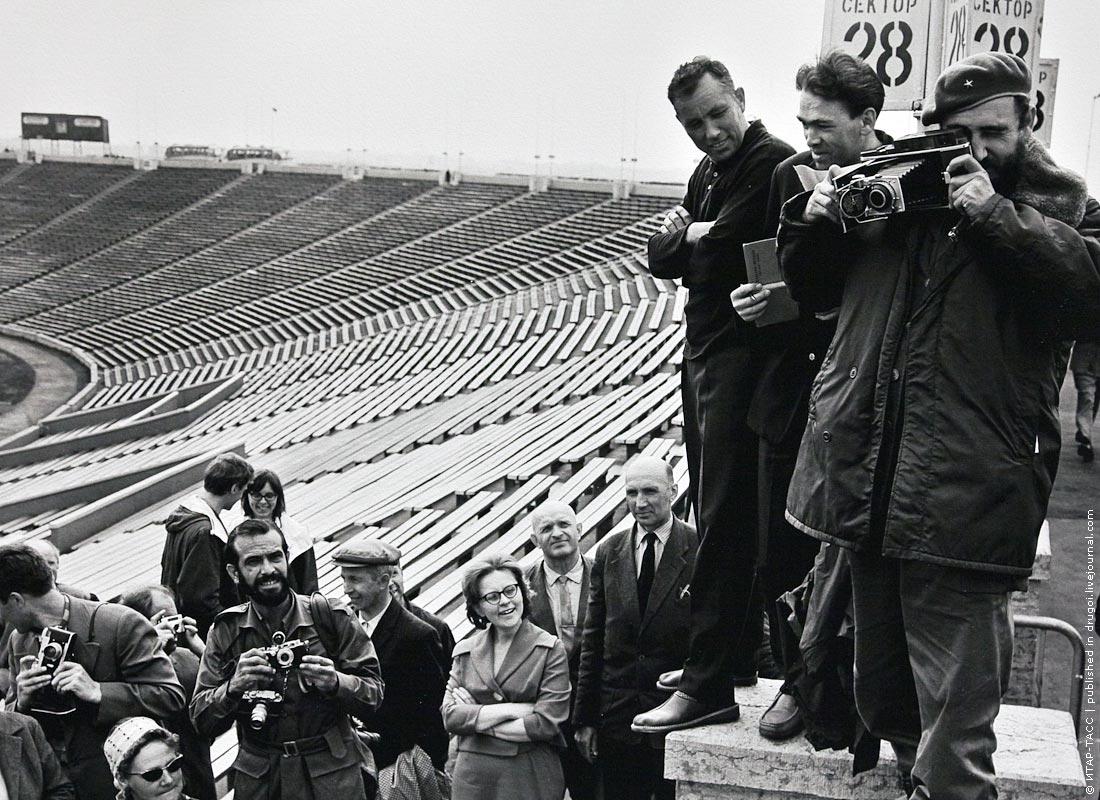 Fidel Castro Sovjetunie Kirov stadion Leningrad